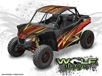 Wolf Designs UTV Wraps - WD-TEX-WCXX-004 Textron Wildcat XX UTV Wrap Kit