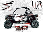 Wolf Designs Polaris 2014 RZR XP1000 White Lightning Door Wrap Kit