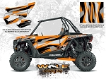 Wolf Designs Polaris 2016 RZR XP Turbo Spectra Orange Door Wrap Kit