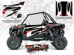Wolf Designs Polaris 2016 RZR XP Turbo Graphite Crystal Door Wrap Kit