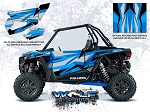 Wolf Designs Polaris 2016 RZR XP Turbo Velocity Blue Door Wrap Kit