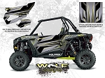 Wolf Designs Polaris 2016 RZR XP1000 Titanium Matte Metallic Door Wrap Kit