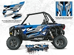 Wolf Designs Polaris 2016 RZR XP1000 Electric Blue Metallic Door Wrap Kit