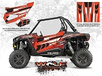 Wolf Designs Polaris 2015 RZR XP1000 Havasu Red Pearl Door Wrap Kit