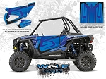 Wolf Designs Polaris 2015 RZR XP1000 Voodoo Blue Door Wrap Kit