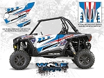 Wolf Designs Polaris 2015 RZR XP1000 White Lightning Door Wrap Kit