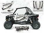 Wolf Designs Polaris 2015 RZR XP1000 White Lightning Monochrome Door Wrap Kit