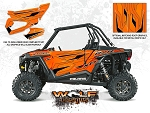 Wolf Designs Polaris 2015 RZR XP1000 Orange Madness Door Wrap Kit
