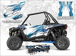 Wolf Designs Polaris 2016 RZR XP Turbo Matte White Lightning Door Wrap Kit