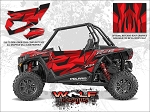 Wolf Designs Polaris 2016 RZR XP Turbo Matte Sunset Red Door Wrap Kit