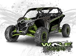Wolf Designs UTV Wraps - WD-MX3-002 CAN-AM MAVERICK X3 WRAP KIT