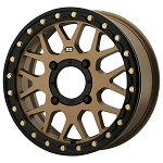 KMC Wheels KS235 Grenade Beadlock UTV Wheel- Satin Bronze
