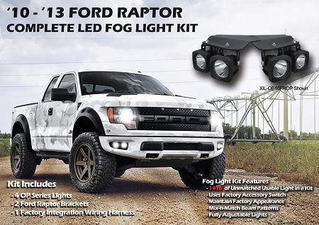Visionx Ford F150 Raptor Optimus Led Fog Light Kit