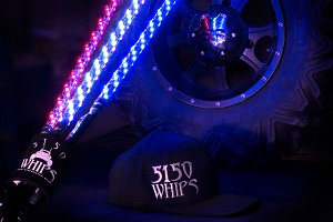 5150 Whips Pair RGB *Bluetooth* Color-Changing LED Whip w/Magnetic Quick Release Base - 6ft
