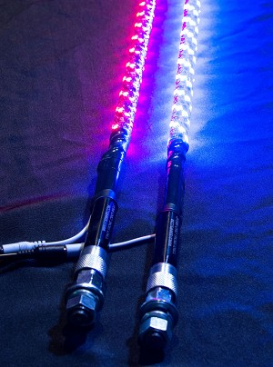 5150 Whips Pair RGB Color-Changing LED Whip w/Magnetic Quick Release Base - 6ft