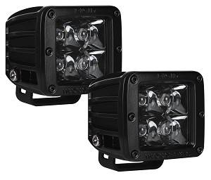 Rigid Industries D-Series PRO Dually Midnight Edition LED Lights- Pair - Spot