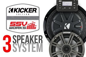 SSV Works Polaris General Complete 3-Speaker Stereo System