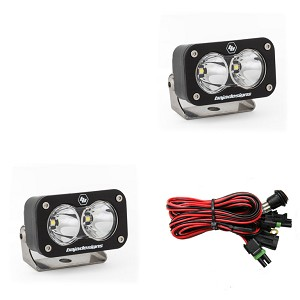Baja Designs S2 Sport LED Light- Pair w/ Wiring Harness