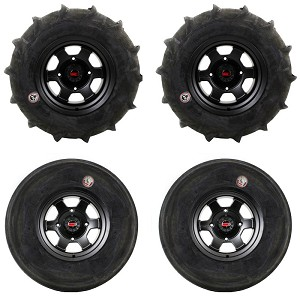"GMZ Race Products 28"" Sand Stripper & 14"" Casino Wheel & Tire Package"
