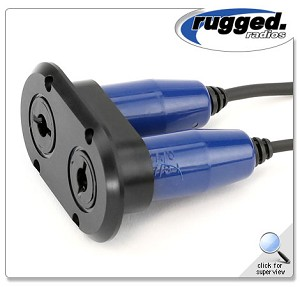 Rugged Radios Dual Flush Jack Mount