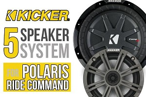 SSV Works Polaris RZR Turbo S Plug-and-Play Complete 5 Speaker Kicker Kit for Ride Command Systems