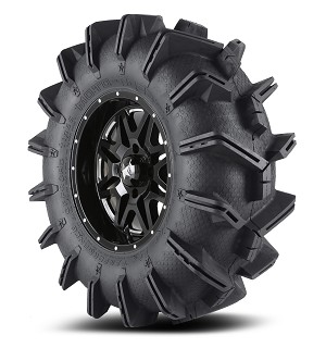 "MSA 14x7 M26 Vibe Wheel and EFX 28"" Moto Boss Tire Kit (Milled)"