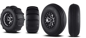 "MSA M21 Lok 14"" Wheel & 29"" Sand Slinger Paddle Wheel & Tire Package"