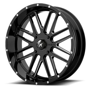 MSA Offroad Wheels M35 Bandit UTV Wheel- Gloss Black Milled