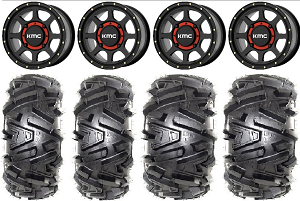 "KMC 14x7 KS134 Addict 2 Wheel and EFX 26"" Moto MTC Tire Kit"