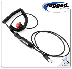 Rugged Radios Quick Disconnect Hole-Mount Push To Talk (PTT) For Steering Wheels