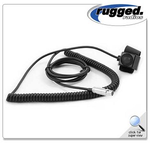 Rugged Radios HD Coil Cord Velcro PTT for Rugged Radios Intercoms