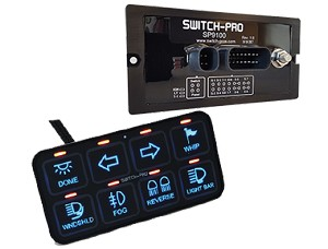 Switch Pros SP-9100 SP9100 Switch Panel Bluetooth Power System- Flush Bezel Mount