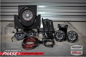 SSV Works Can-Am Maverick X3 and X3 Max Complete 5-Speaker Plug and Play Kicker Stereo Kit
