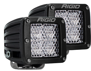 Rigid Industries Dually D-Series Pro LED Light- Specter-Diffused - Pair