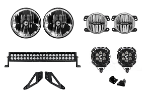 KC HiLites Jeep JK Offroad LED Light Kit - Stage 1