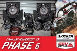 SSV Works Can-Am Maverick X3 and X3 Max Complete 6-Speaker Plug-and-Play Kicker Stereo Kit