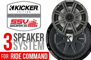 "SSV Works Polars RZR XP Turbo ""S"" Complete KICKER 3-Speaker Plug-And-Play Stereo System for Ride Command Systems"