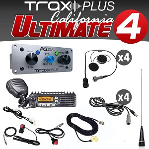 PCI Race Radios Trax PLUS California Ultimate 4 Intercom System