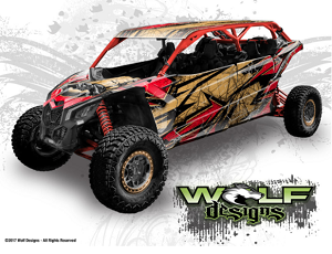 Wolf Designs UTV Wraps -  WD-MX3-MAX-001 CAN-AM Maverick X3 Max Wrap Kit