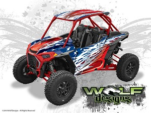 Wolf Designs UTV Wraps - WD-PLRS-TRBOS-004 Polaris Turbo S 2 Seat Wrap Kit