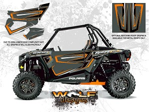 Wolf Designs Polaris 2014 RZR XP1000 Titanium Door Wrap Kit