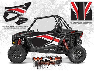 Wolf Designs Polaris 2015 RZR XP1000 Stealth Black Door Wrap Kit