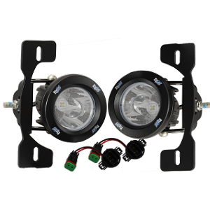 VisionX Jeep JK Factory Fog Light Upgrade Kit w/ Optimus LED Lights