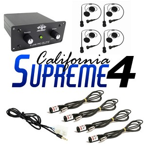 "PCI Race Radios California Supreme 4 Seat ""In Car"" Package"