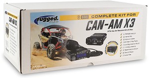 Rugged Radios Complete UTV Communication Kit for Can-Am X3 w/Top Mount