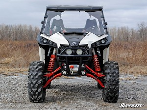 SuperAtv Can-Am Maverick Scratch Resistant Full Windshield