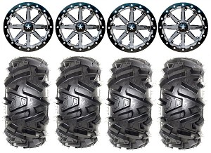 "MSA 14x7 M21 Lok Wheel and EFX 27"" Moto MTC Tire Beadlock Kit"