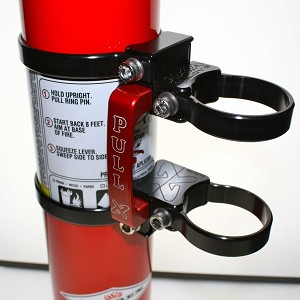 Axia Alloys Quick Release Fire Extinguisher Mount w/2.5lb Amarex
