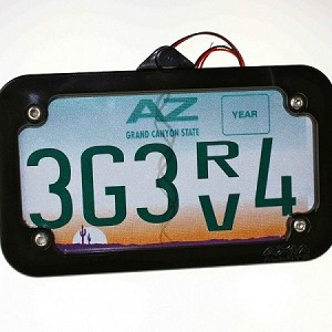 Axia Alloys Cage Mount Lighted License Plate Frame