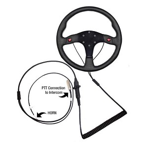 PCI Race Radios Quick Release Steering Wheel PTT (Push To Talk) Assembly